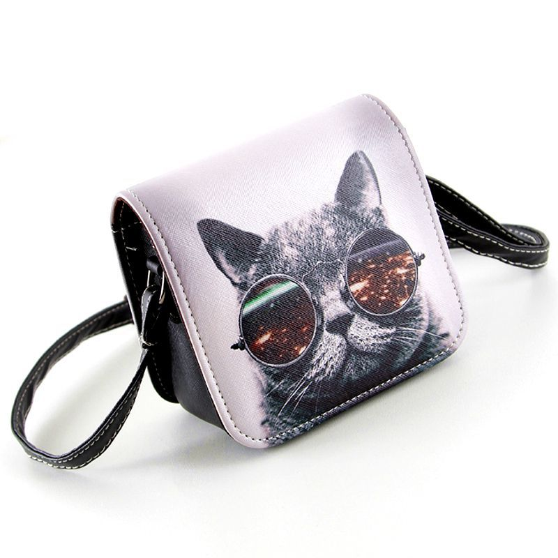 Bolsa-Bolsos-Carteras-Mujer-Marca-Women-PU-Leather-Cat-Wearing-Big-Glasses-Print-Shoulder-Handbags-2016