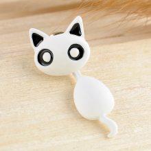 Cute Black Kitten Earrings