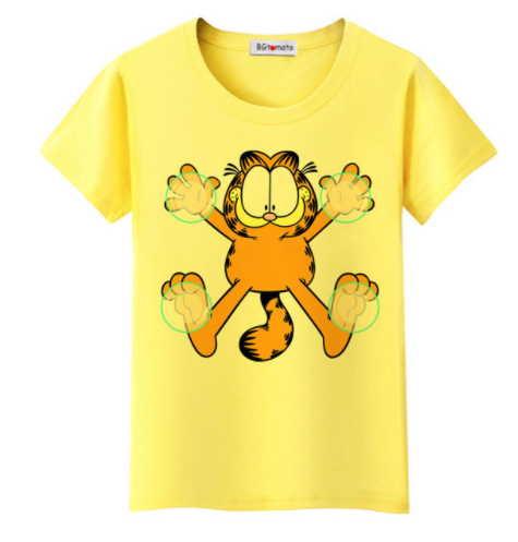 Garfield Women`s T-shirt (4 colors)