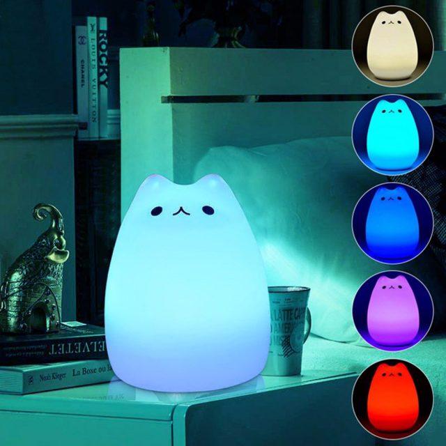 7 Colors Pusheen LED lamp