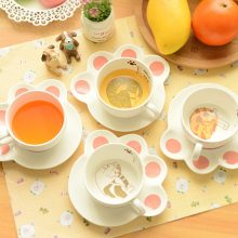 Cute Cat Mug and Saucer Set