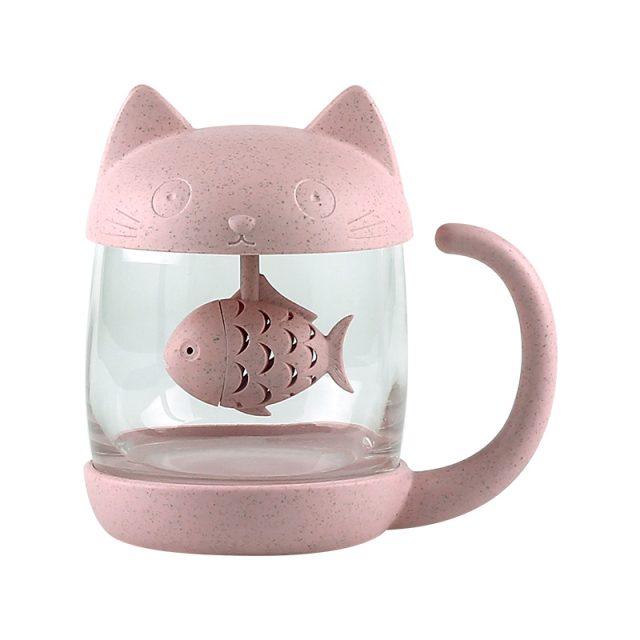 Cute Cat Mug With Infuser