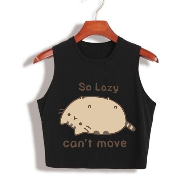 Pusheen Cropped Top (3 colors)