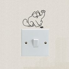Simon's Cat and Spider Switch Sticker