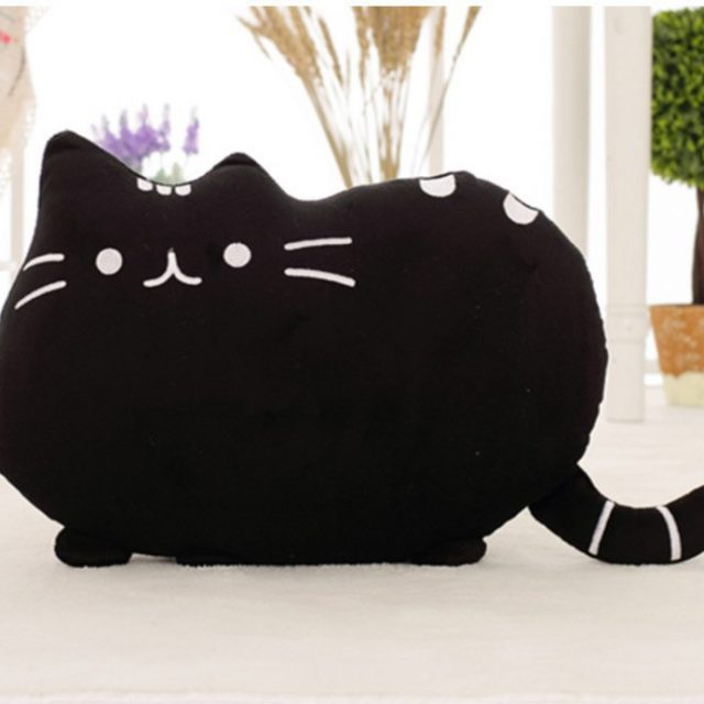 Pusheen-shaped Pillow – Orange
