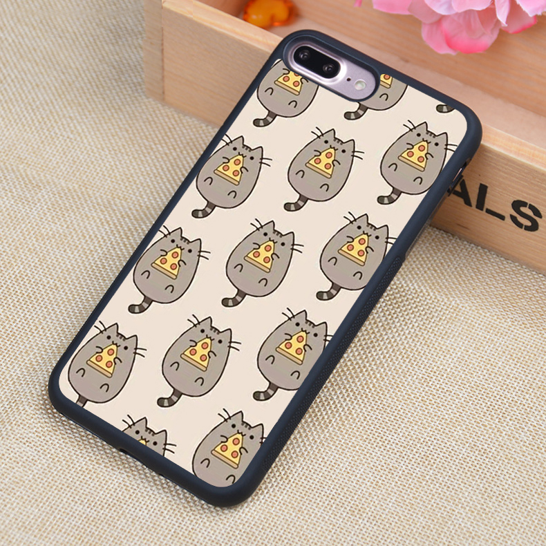 Pusheen Cat With Pizza Iphone Case