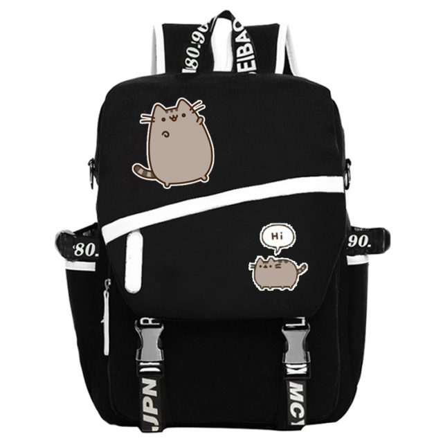 Pusheen Cat Black Backpack