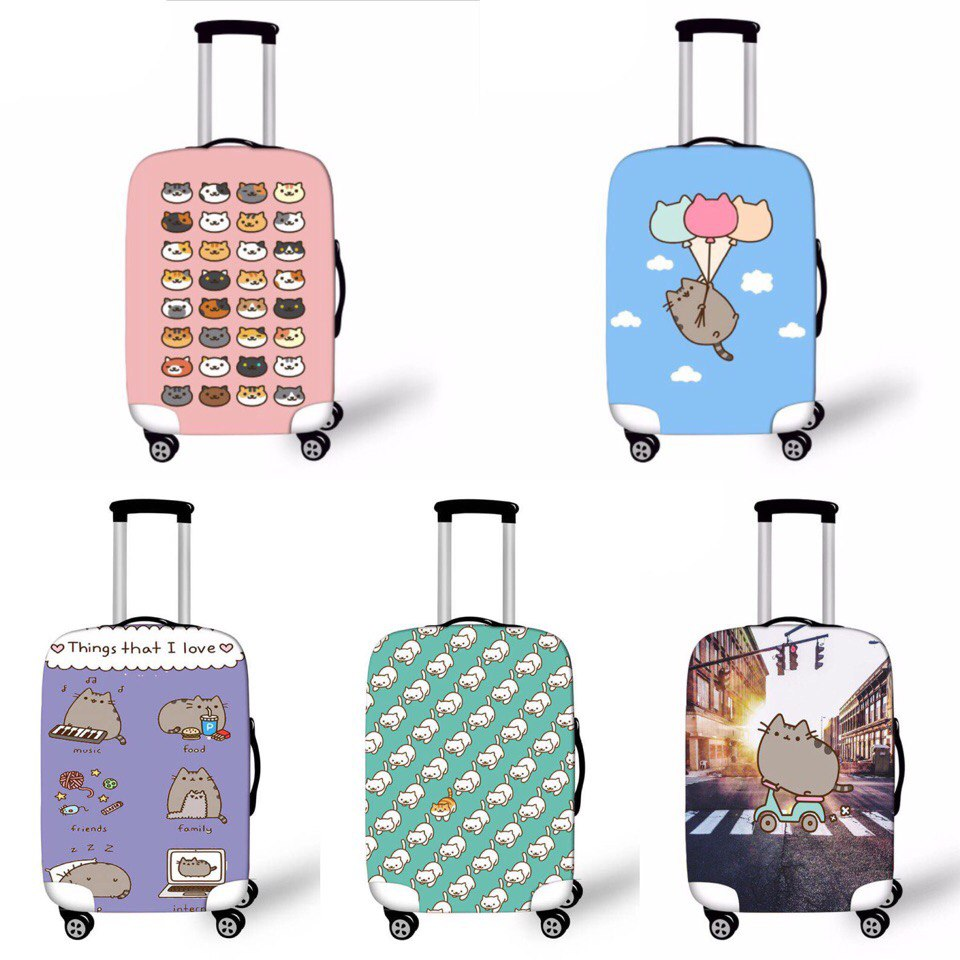 pusheen cat luggage cover