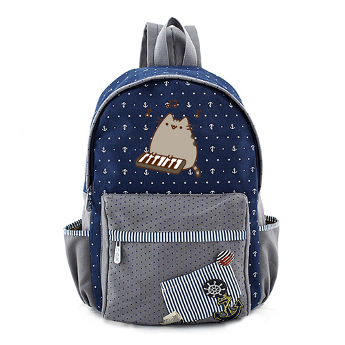 Pusheen The Cat Backpack with small anchor (18 types)