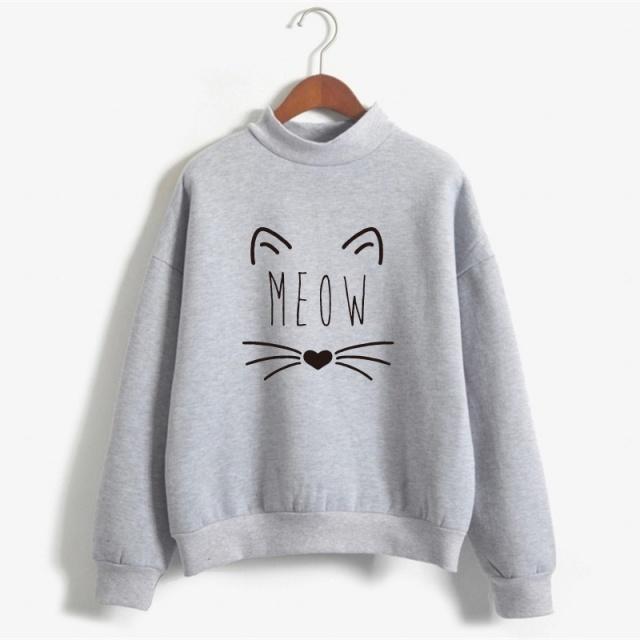 Sweet Cat Printed Sweatshirt (12 colors)