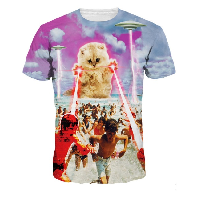 Crazy 3D T-Shirts with Cats (3 types)