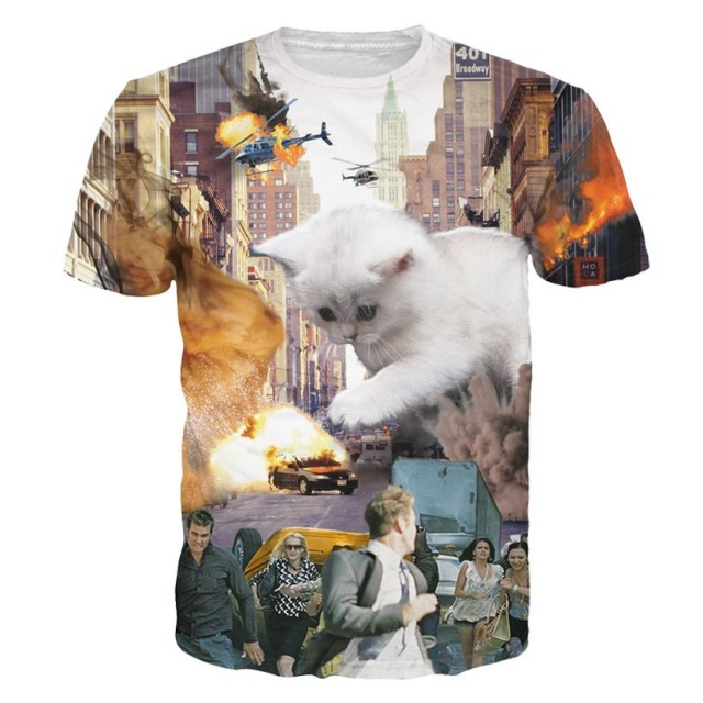 Crazy 3D T-Shirts with Cats (21 types)