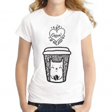 Cats & Coffee Printed T-Shirts (2 styles)
