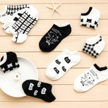 Cotton Women's Socks with Cats (10 types)