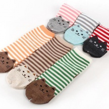 Striped Cat Socks (6 colors)