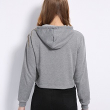 `Meow` Printed Cropped Hoodie (3 colors)