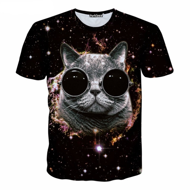 3D T-Shirts with Cats (3 types)
