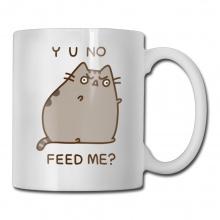 """Pusheen The Cat """"Yo No Feed Me"""" Mug"""