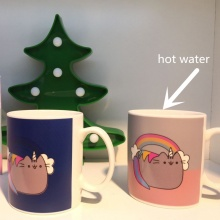 Unicorn Pusheen the Cat Color Changing Mug