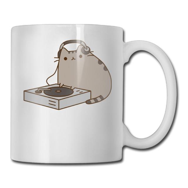 DJ Pusheen the Cat Mug