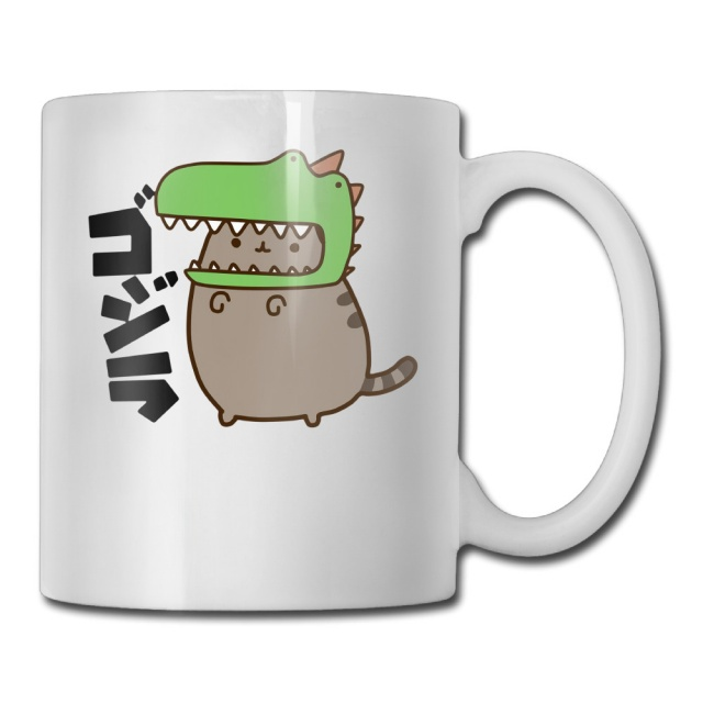 Dino Pusheen the Cat Coffee Mug