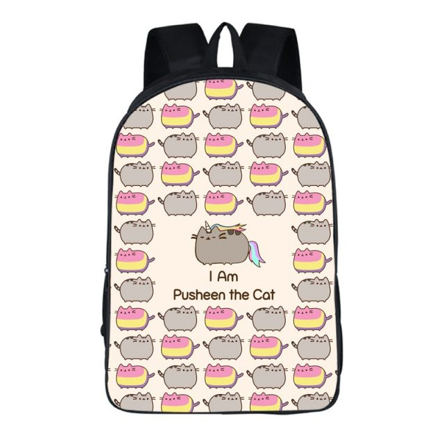 Lovely Pusheen Cat Unicorn Backpack