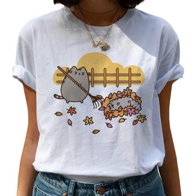 I Am Pusheen The Cat Halloween Casual Loose T-Shirt